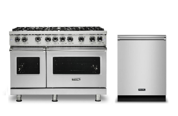 Viking Pro Dual Fuel 48in Range with 8 Burners & FREE Dishwasher - VDR5488BSS