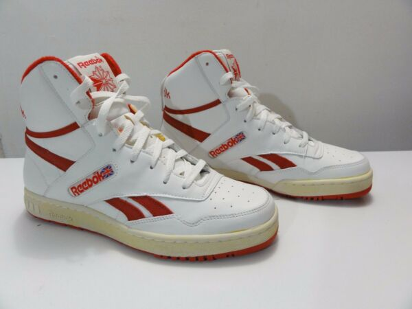 RARE Reebok BB4600 High Top Basketball shoes sz 10.5 Vintage / Red / Paperwhite