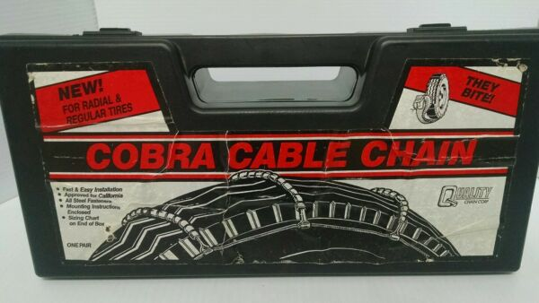 Cobra Cable Tire Snow Chains Stock #1030 Never Used