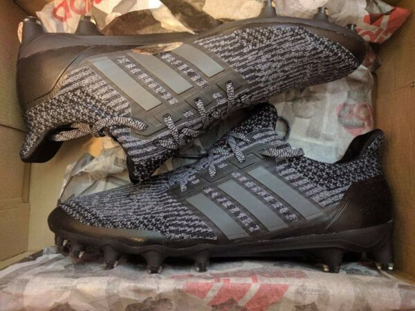 Adidas Ultra Boost Cleats UltraBOOST All Triple Black Football Superbowl RARE