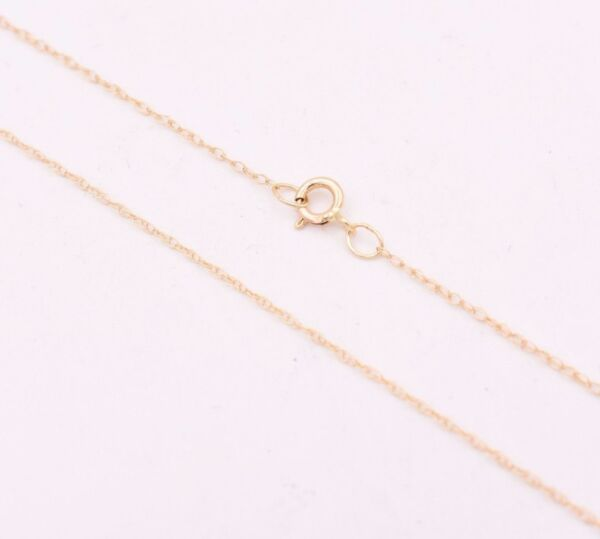 0.6mm Open Dainty Twisted Rope Chain Necklace Real Solid 10K Yellow Gold 16quot; 18quot;