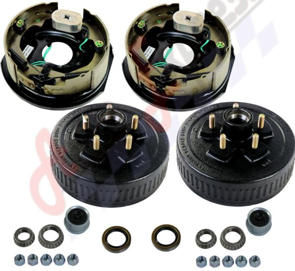 Trailer 5 on 4.5 Hub Drum Kits with 10quot;X2 1 4quot; Electric brakes for 3500 lbs axle $168.88