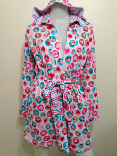 NWT PAUL FRANK JULIUS MONKEY NIGHT ROBE STRAWBERRY MUSIC NOTE KAWAII $49 M L