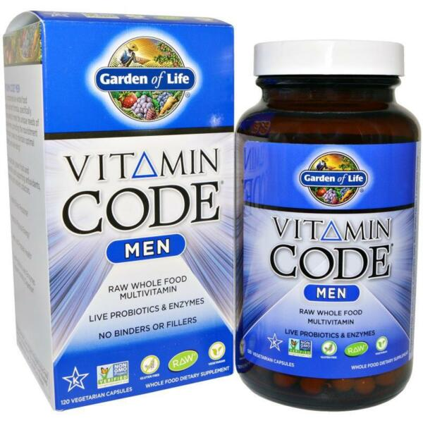 FREE Ship] Garden of Life Vitamin Code Men MultiVitamin 120 / 240 Vege Capsules
