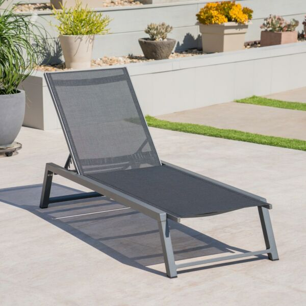 Mesa Outdoor Chaise Lounge with Finished Aluminum Frame $1014.98