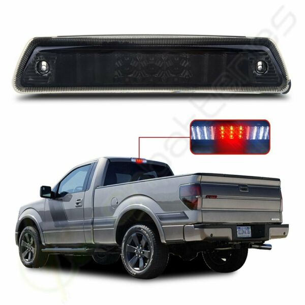 Smoke For 2009-2014 Ford F150 LED 3rd Third Brake Tail Light Stop Cargo Lamp