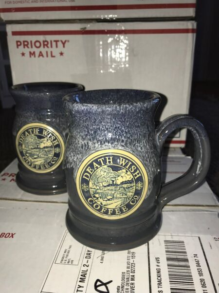 2017 Death Wish Coffee Old Man Winter MUG Death Wish Tankard Deneen Pottery mug