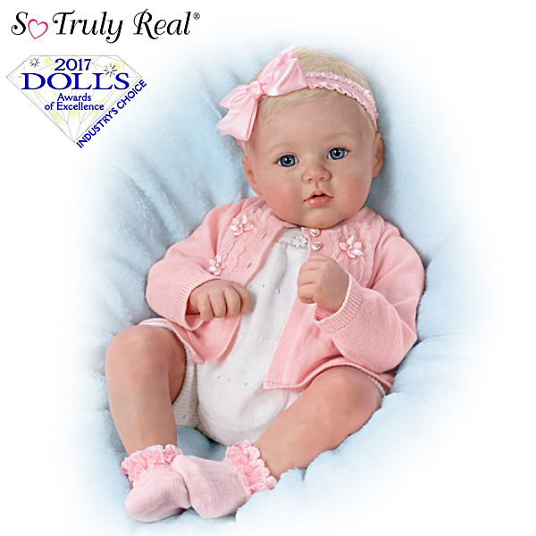 Ashton Drake Marissa May Perfect In Pink Annika Lifelike Baby Girl Doll NEW NIB