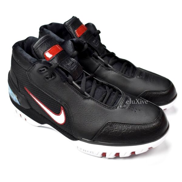 NWT Nike Men's Air Zoom Generation Lebron James Rookie Sneakers Black AUTHENTIC