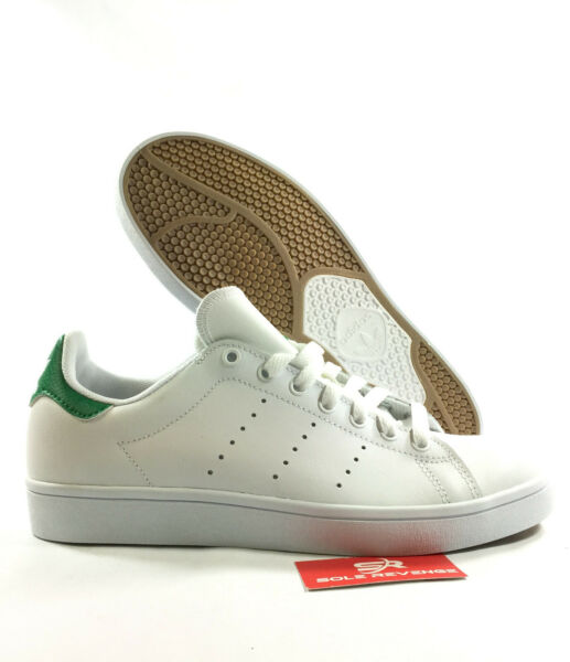 NEW adidas Originals STAN SMITH VULC SHOES White Green Skate Sneakers B49618