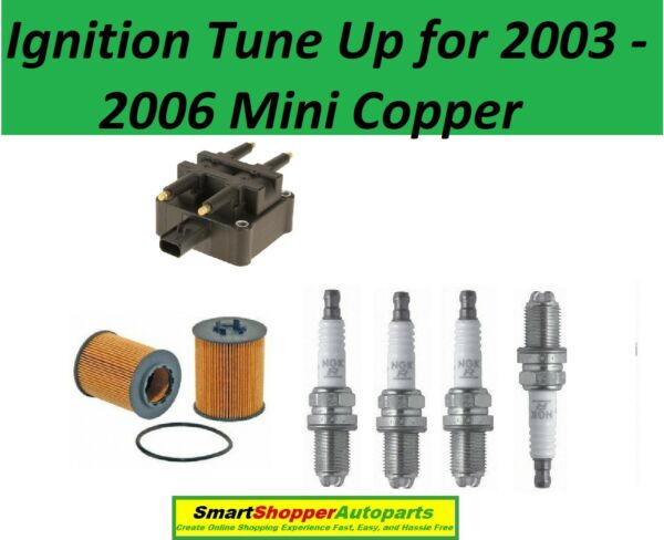 Ignition Tune Up For 2003 - 2006 Mini Copper Oil Filter Spark Plug Igntion coil