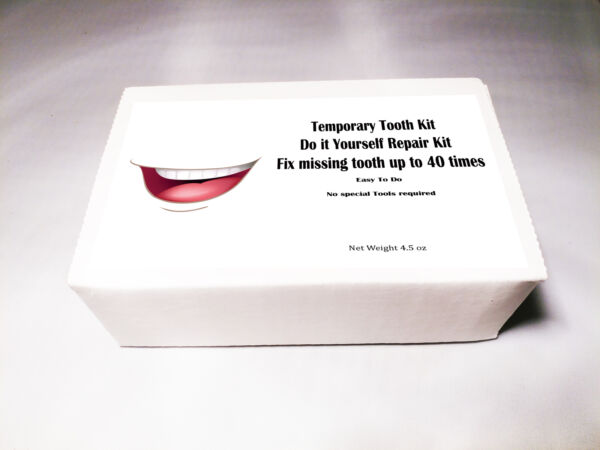 Temporary Tooth Kit  Do it Yourself Repair Kit Dental Fix Missing up to 40 teeth
