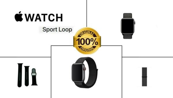 NEW Apple Watch Silicone Rubber or Sport Loop Band for All Apple Watches