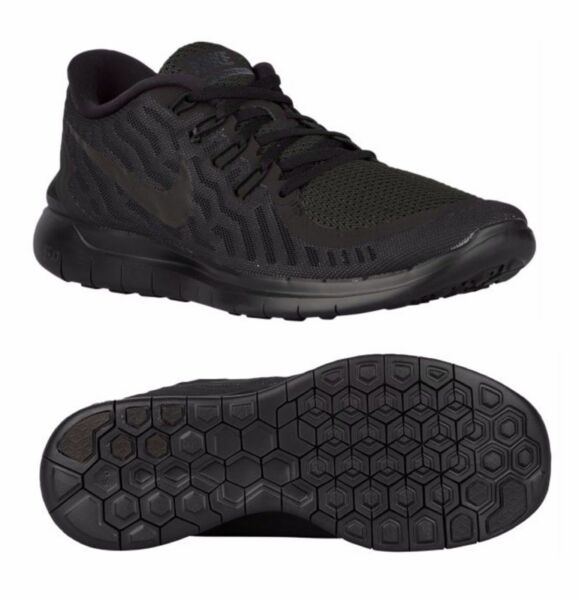 NEW Nike Free 5.0 Men Athletic Shoes Black/Anthracite All Black Out 724382-001