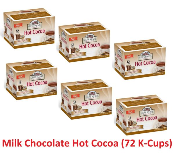 Grove Square Milk Chocolate Hot Cocoa (72K-Cups) (6 boxX12) Keuring-hot compatib