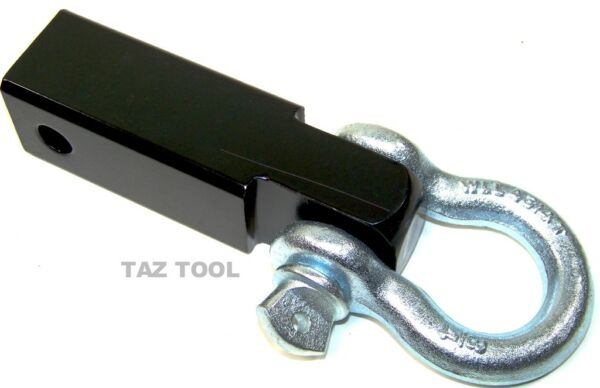 Solid Shank D Ring Receiver Hitch CAP 10000 LBS H D Mount Receiver Tow Towing $27.99