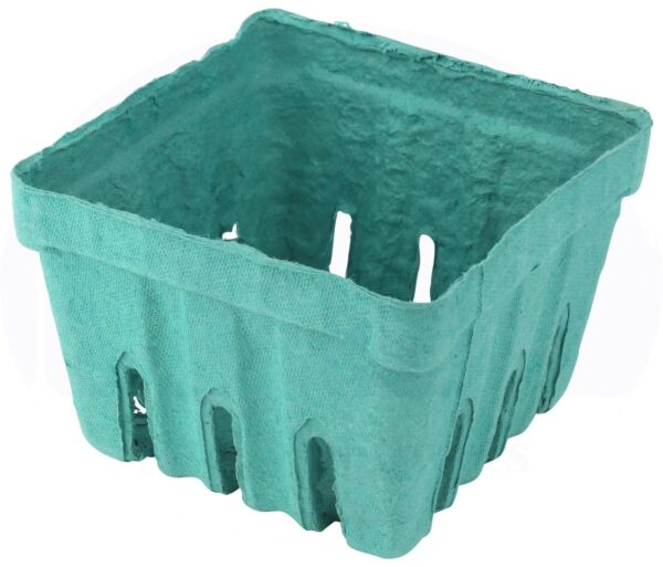 Molded Pulp Fiber Berry  Produce 1 Pint Basket by MT Products - 15 Pieces