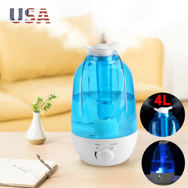 4L Home Ultrasonic Air Humidifier Ionizer Atomizer Diffuser Purifier Cool Mist