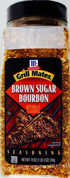 McCormick Grill Mates Brown Sugar Bourbon Seasoning Spice 19 38 57 or 76 OZ