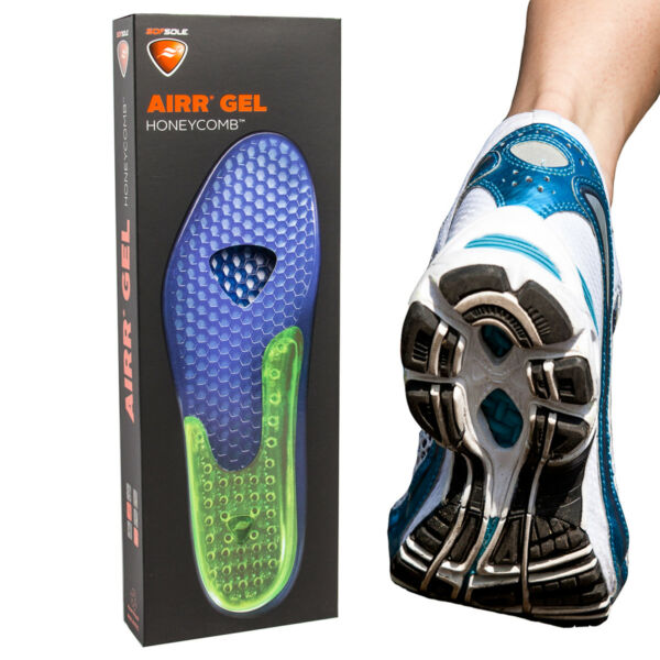 Sof Sole Airr Gel Shoe Inserts Arch Support Shock Absorbing Breathable Insoles