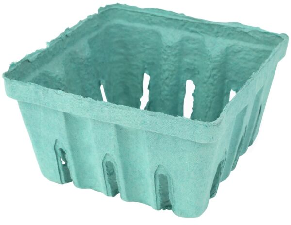 Green Pulp Fiber Produce Vented 12 Pint Basket by MT Products (15 Pieces)
