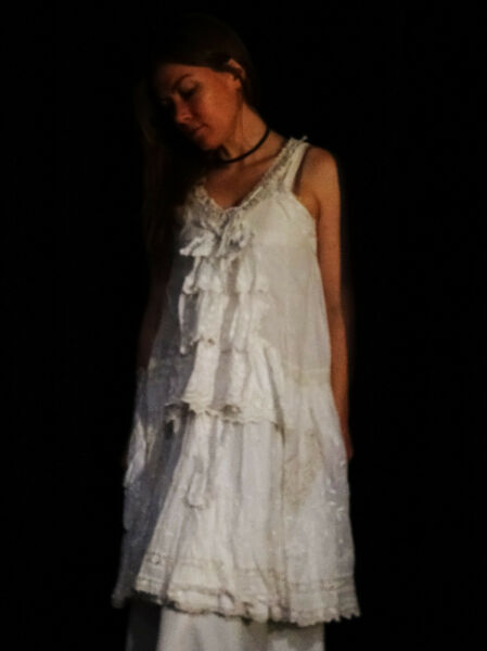 AUTHENTIC Magnolia Pearl Exquisite White Sweet Pea Duster - OOAK Art to Wear
