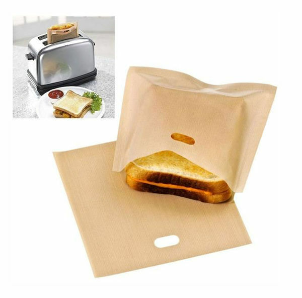 Toaster Bags - Non stick Reusable Grilling Bags Panini Toaster Bags -4pc Set