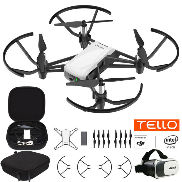 Tello Quadcopter Drone with HD Camera and VR Starter Bundle With Case