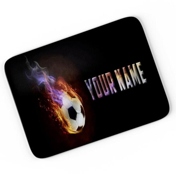 Personalised Football Mouse Mat Pad Computer Gaming Fire Goal Gift Boys ST472