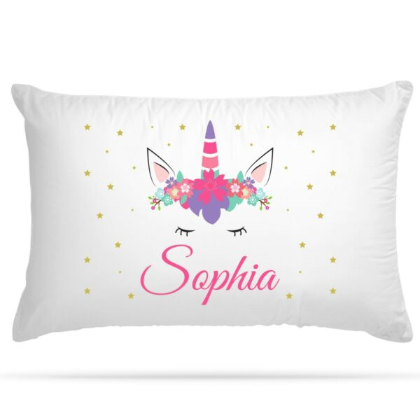 Personalised Unicorn Party Gift Pillowcase Birthday Present Custom Cushion Cover GBP 6.99