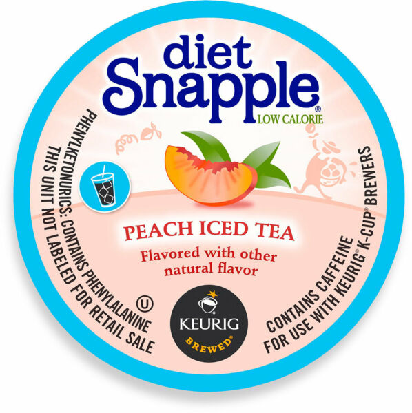 Snapple Diet Peach Iced Tea 22 to 88 count Keurig K cups Pick Any Size