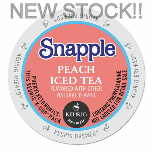 Snapple Peach Iced Tea 22 to 88 count Keurig K cups Pick Any Size FREE SHIPPING