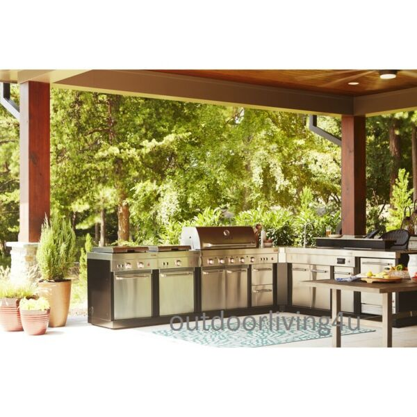 Ultimate Outdoor Kitchen w GRILL SINK REFRIGERATOR STOVE GRIDDLE