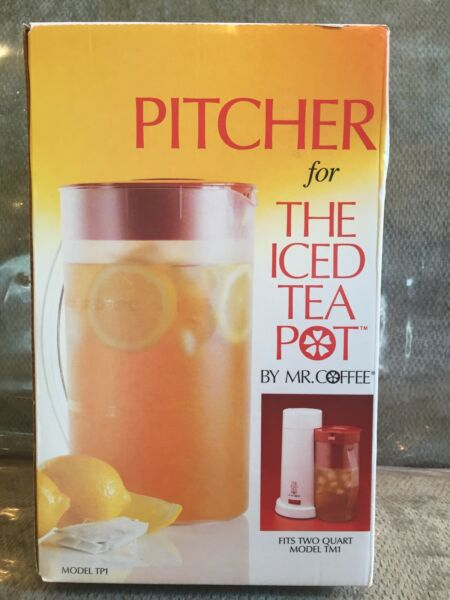 MR COFFEE Replacement 2 Quart TP1 ICED TEA POT PITCHER for Model TM1 - NEW