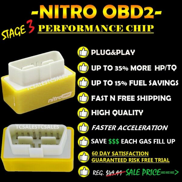 CHEVY Best OBD2 Tuner Performance Chip 1996 2017 SAVE GAS FUEL Plug N Play