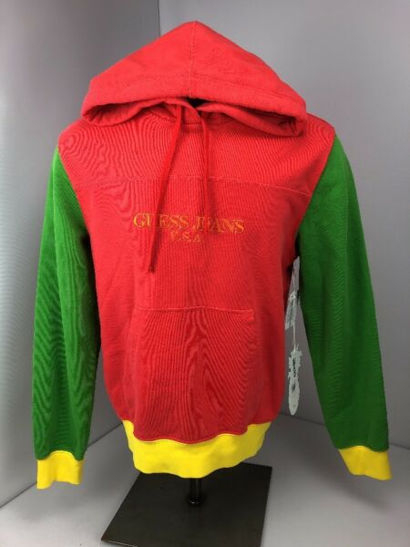 Guess Jeans Produce Farmers X Sean Wotherspoon Color Block Hoodie Porten Pink S