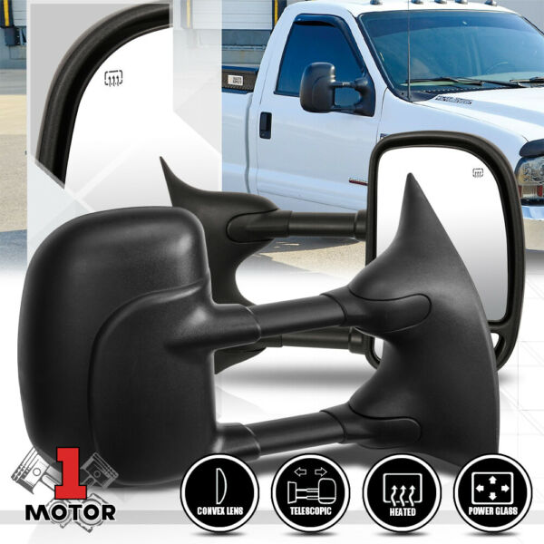 [Pair] Power+Heated Extendable Towing Side Mirror for 99-07 F250 F350 Super Duty