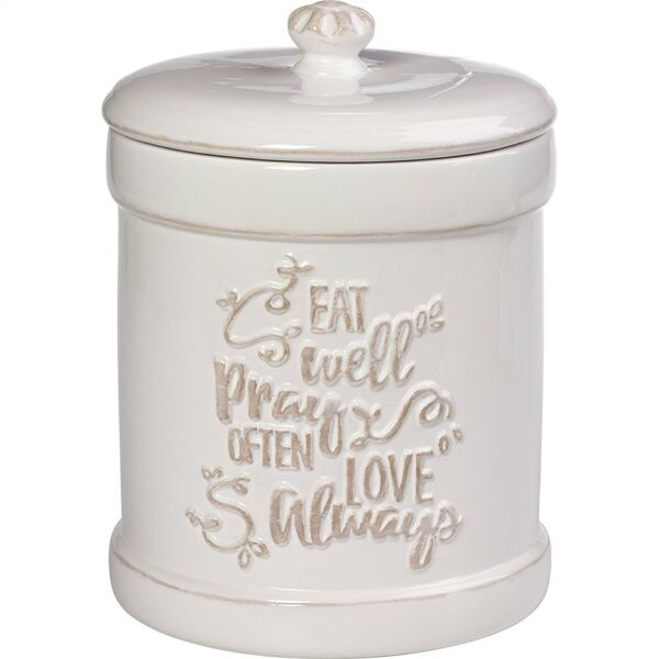 Precious Moments Ceramic Kitchen Canister Inspirational White/Cream
