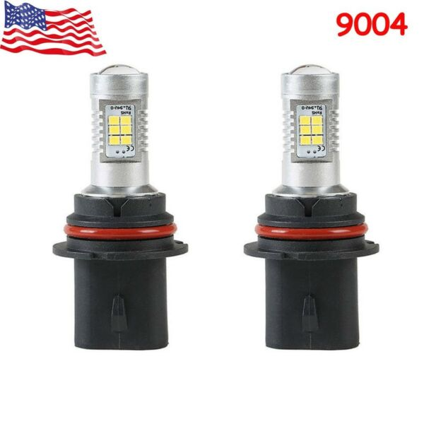 2pcs 9004 HB1 For Dodge Ram 1500 2500 3500 21SMD 2538 LED Headlight Bulbs