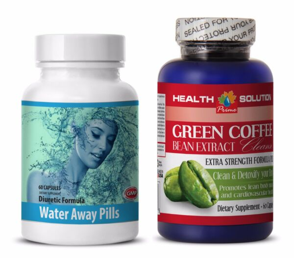Fat burner pills - WATER AWAY – GREEN COFFEE CLEANSE COMBO - green coffee bean