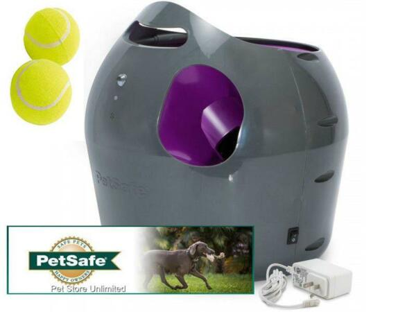 PetSafe Automatic Ball Launcher with 2 Tennis Balls PTY00-14665 AC