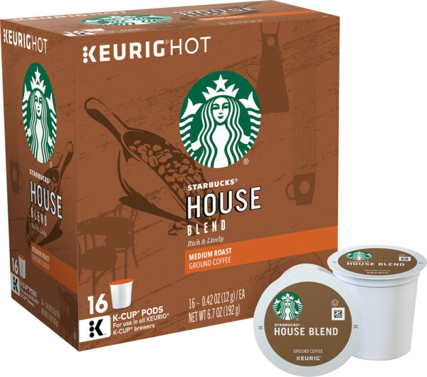 Starbucks House Blend Coffee 16 to 64 Count Keurig K cups Pick Any Quantity