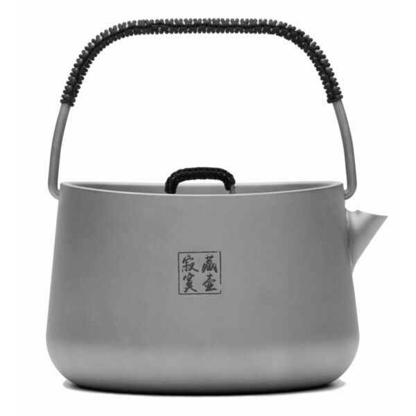 Ultralight Titanium Water Kettle Camping Coffee Kettle Portable Tea Pot 1L