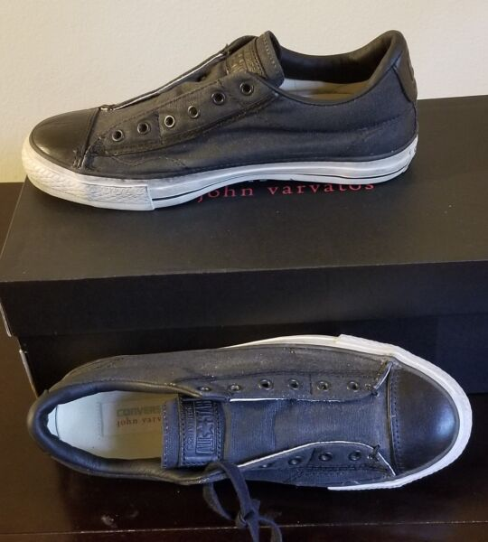 NEW CONVERSE X JOHN VARVATOS ALL STAR BURNISHED CANVAS SLIP ON SHOES US 7