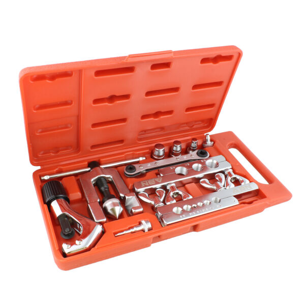 ABN  Flaring Tool Set – 10 Pc Flaring and Swaging Tool Kit with Tube Cutter