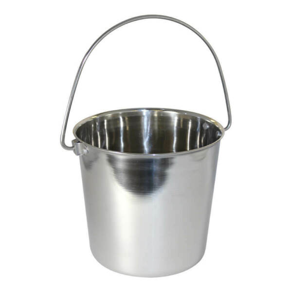 Pail Stainless Steel w Rivets Round 1 qt