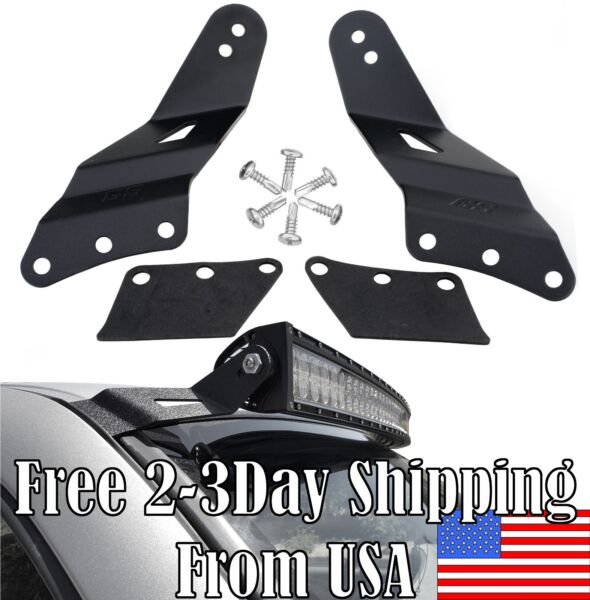 GS 52quot; Curved 99 06 LED Light Bar Mount Bracket for Chevy Silverado GMC Sierra