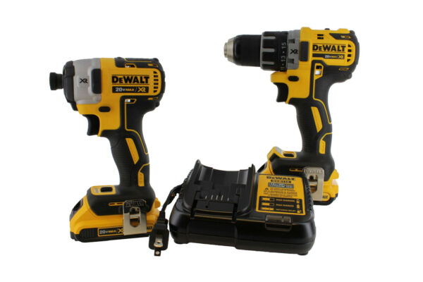 DEWALT DCK283D2 20V 20 Volt Li-Ion Brushless Drill & Impact Driver Set New NIP