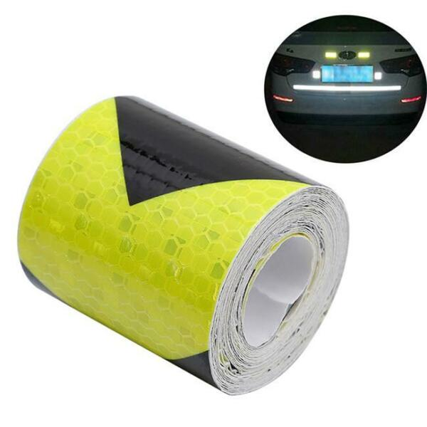 Safety Caution Reflective Tape Warning Tape Sticker Self Adhesive Tape 6L