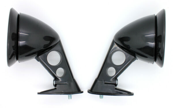 NEW JDM Style Black Fender Mount Side Mirrors PAIR  UNIVERSAL FIT Racing Mirror